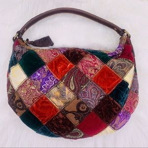 Lucky Brand Patchwork Multi-Fabric Hobo Bag